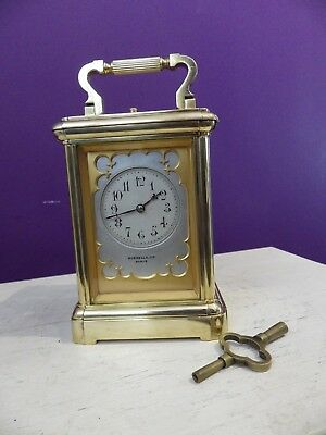 French Repeating carriage clock Amazing Case & Dial Fully Restored Mint Cir 1870