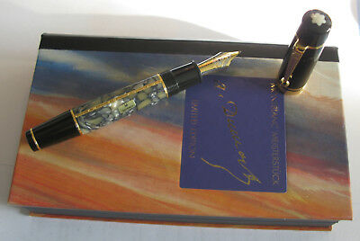 Vintage Montblanc A. Dumas Sun Limited Edition Fountain 18 K -Boxed Papers-1996-