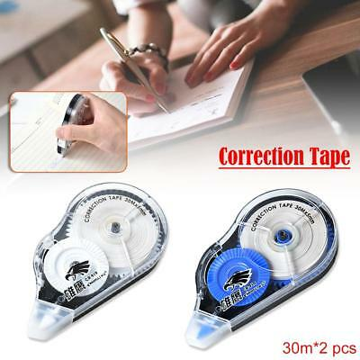 2pcs Roller Correction Tape Decorative White Out School Office Supply Stationery