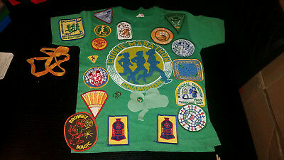 Girlscout patches Brownie Shirt Cookies Pin 1984 1983 1982 Daisy day