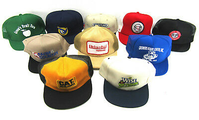 Trucker Hat Advertising LOT vtg Mesh Farmer snapback Cap CAT Diesel Shell oil