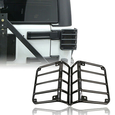 Pair Euro Tail Lamp Light Cover Trim Guards Protector for Jeep Wrangler JK 07-18
