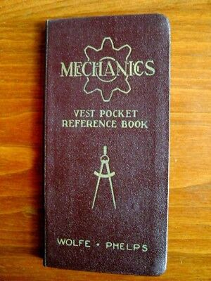 Mechanics Vest Pocket Reference Book 1944 Wolf Phelps Vintage Collectible