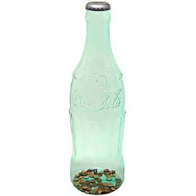 "NEW Large 23"" Coca Cola Bottle Bank Coins Coke Red or Clear - Free USA Shipping!"