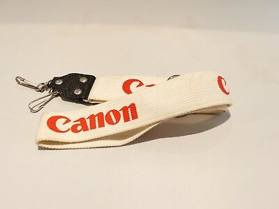 Wide Camera Strap For Canon F1 A1 Ae1 Camera Vintage White Rare Retro 1