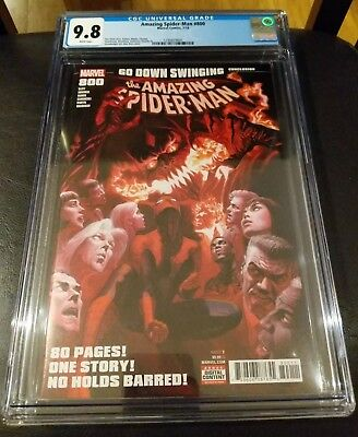 Amazing Spider-Man 800 CGC 9.8 Alex Ross Main Cover Red Goblin Marvel