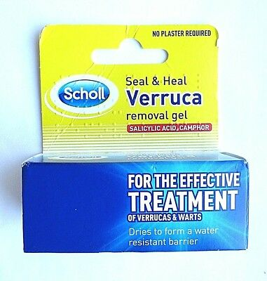 Scholl Seal and Heal Verruca and Wart Removal Gel Effective Treatment 10ml