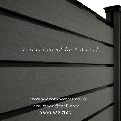 Composite Fence Panels. Garden fence panels Made to order by Eco-Wood