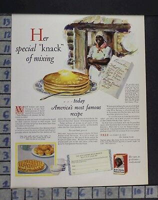 1918 Aunt Jemima Pancake Ethnic Black Kitchen Cook Bake Food Vintage