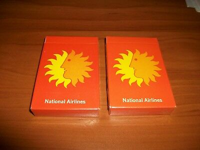 Lot Of 2 Vintage National Airlines Playing Card Decks....Sealed..