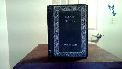 The Last Essays Of Elia Book By Charles Lamb  Hb    Picclick  Year Old Book S Charles Lamb Essays Of Elia Henry Altemus