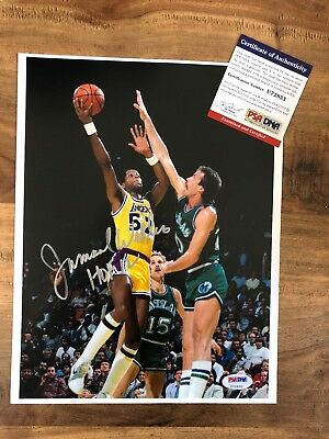 """a853cb6ee3d Jamaal Wilkes Lakers Signed """"HOF 12"""" Autographed 8x10 Photo PSA/DNA COA"""