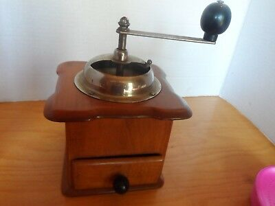 Vintage  Dienes Wood & Metal Coffee Hand Grinder