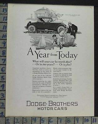 1926 Dodge Brothers Roadster Detroit Flapper Car Auto Motor Vintage Ad  Co17