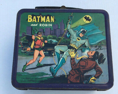 Vintage 1966 Batman and Robin Penquin Metal Lunchbox National Periodical
