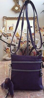 937b87ee12 New Kipling Alvar Extra-Small Cross-body Purple Nylon Bag Retail   49.99