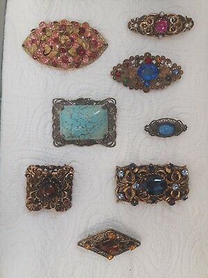 Vintage Job-Lot Of Czech Brooches X 8,1 Signed