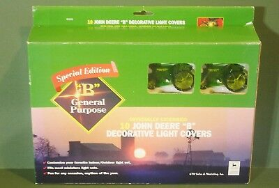10 Piece John Deere 2003 Model B Tractor Miniature Light Covers Christmas Tree