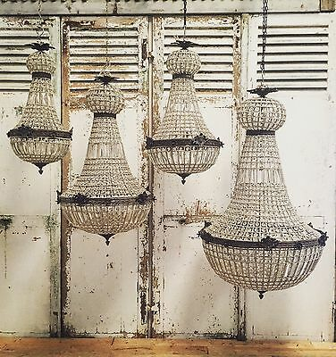 Antique, French Chandelier, Vintage, Industrial,80cm Tall