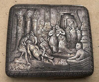 Fine 19th c Van Armenian Signed Chased Silver Relief Case 'Ara the Beautiful'