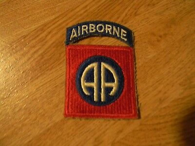 Vintage WW 2 US Army 82nd Airborne Division Patch & Tab