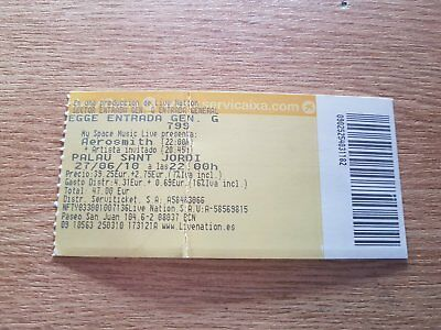 AEROSMITH entrada ticket Live in Barcelona 2010 ORIGINAL