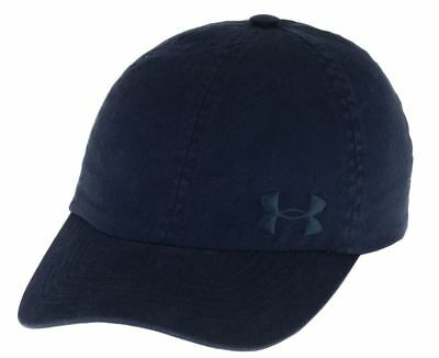 Under Armour Women s Washed Cap Navy Blue Adjustable Hat UA Free Fit  1285293 New b154bf02b95c
