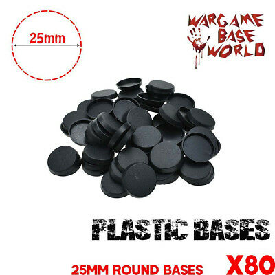 80pcs 25mm round plastic bases Gaming Miniatures bases wargames Figures