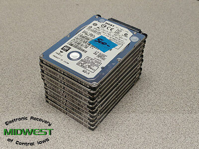 """Lot of 10 HGST 500GB 2.5"""" Sata Thin Laptop Drives  Wiped and Tested"""