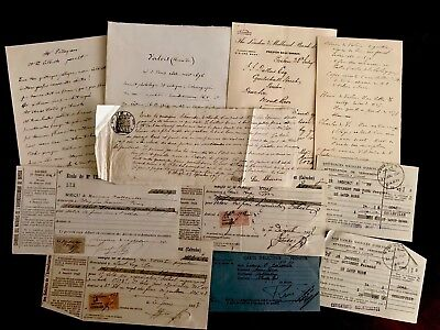 1600-1800s Collection of ELEVEN Handwritten Documents
