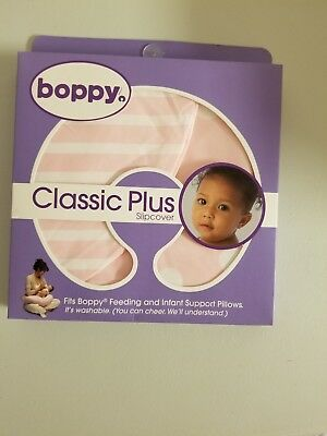 Brand New Boppy Classic Plus Slipcover For Boppy Pillow Pink And White