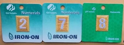 Girl Scout Daisy Uniform Iron On Numeral