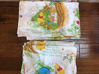 Vintage Sears Winnie the Pooh Sheets Full Size SET