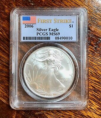 2006 FIRST STRIKE $1 Silver American Eagle PCGS MS69