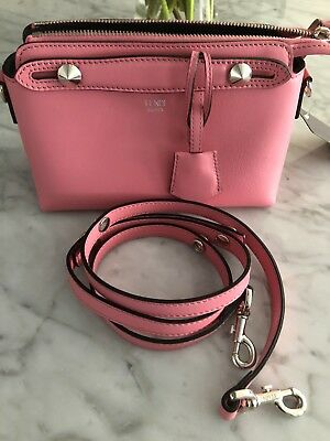 "00920c447d Fendi NWT SM. Boston Bag ""By The Way"" Calfskin Pink W Long Strap"