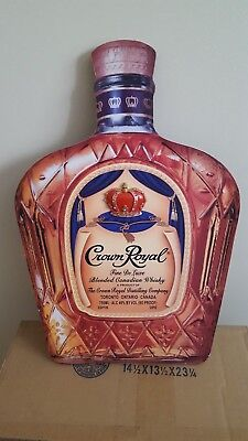 Crown Royal Whiskey Bottle for Display by Crown Royal Outfitters + 2 Glasses