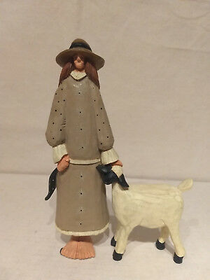 1994 Williray Studio SEASON WW 1032 Figurine LADY WITH LAMB Sheep Farmer Amish