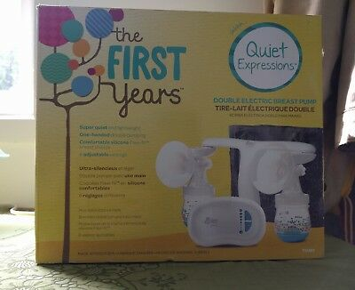 NEW/SEALED! The First Years Quiet Expressions - Double Electric Breast Pump