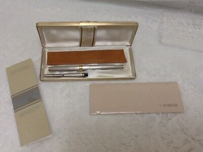 """PARKER """"Ms Parker"""" by Pucci Rollerball BOXED 1970's VINTAGE 75 Sterling PCL"""