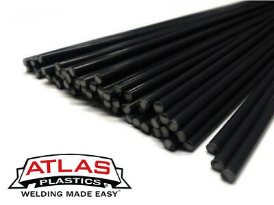 ABS Plastic Welding Repair Rods-10ft, 10PK-Black-12in x 3mm