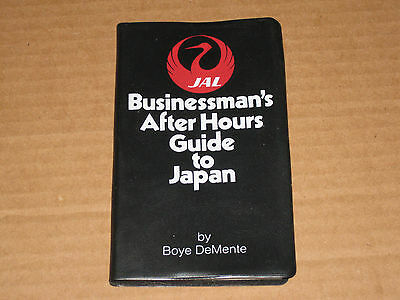 JAL Businessman's After Hours Guide to Japan 1973  Maps Places Pleasures