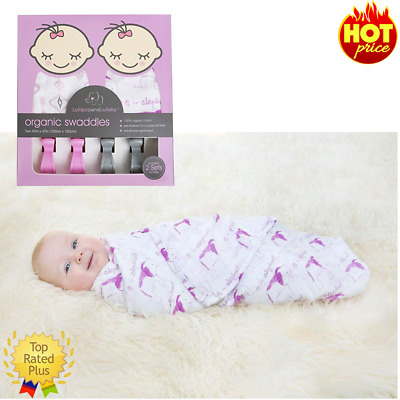 Baby Swaddle Blanket and Organic Lullaby Gift Set Pink and Gray