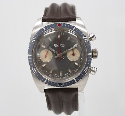 Vintage 38mm BULOVA 666 DIVER Automatic Chronograph 7733 Mens Swiss Watch