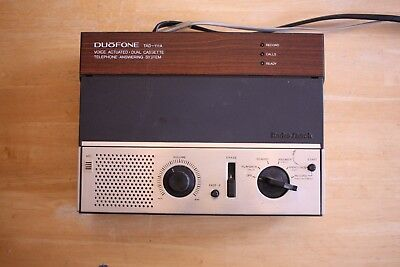 Radio Shack Duofone TAD-111A Dual Cassette Telephone Answering System - Works!