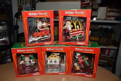 Lot of 5 Vintage McDonald's Collectible Christmas Ornaments