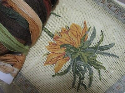 Tramme 50 % Unworked Floral  Tapestry Cushion Cover  , With Radum  Wool