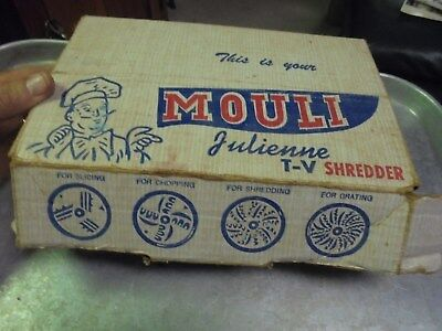 Vintage Mouli Julienne T-V Shredder in original box