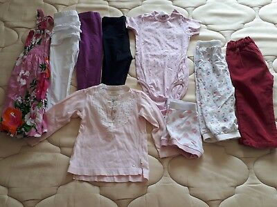 bulk baby girls size 1 and 2 clothes