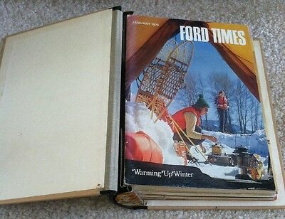 1975 Ford Times Factory Magazine Complete Set of 12 Issues in Ford Times Binder