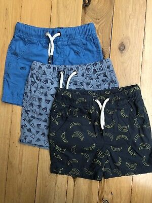 3 Pairs Of Boys Shorts, Size 2 - Tags Removed But Unworn! Great For Summer